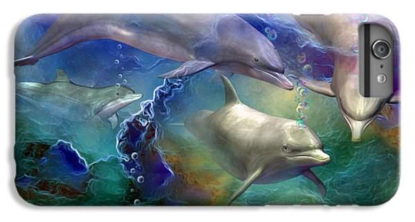 Dolphin Dream IPhone 7 Plus Case by Carol Cavalaris