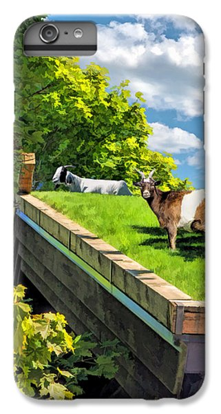 Door County Al Johnsons Swedish Restaurant Goats IPhone 7 Plus Case by Christopher Arndt