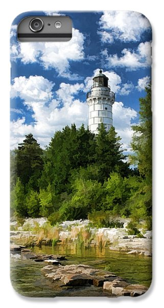 Cana Island Lighthouse Cloudscape In Door County IPhone 7 Plus Case by Christopher Arndt