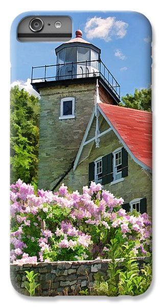 Door County Eagle Bluff Lighthouse Lilacs IPhone 7 Plus Case by Christopher Arndt