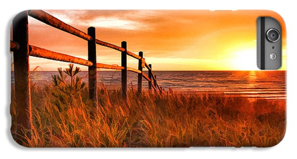 Door County Europe Bay Fence Sunrise IPhone 7 Plus Case by Christopher Arndt