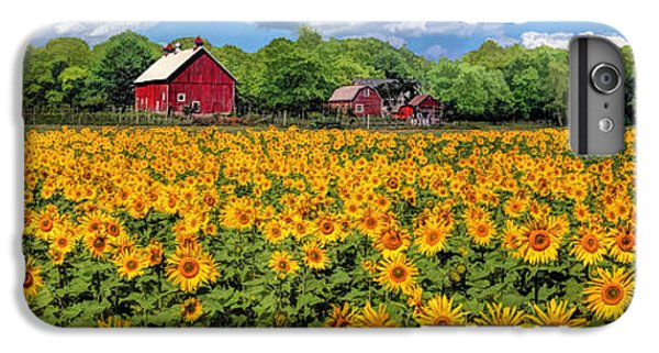 Door County Field Of Sunflowers Panorama IPhone 7 Plus Case by Christopher Arndt