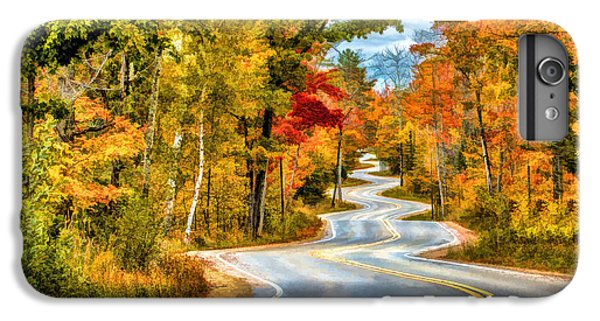 Door County Road To Northport In Autumn IPhone 7 Plus Case by Christopher Arndt