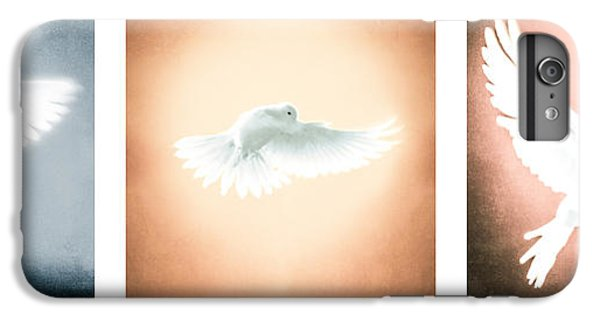 Dove In Flight Triptych IPhone 7 Plus Case by YoPedro