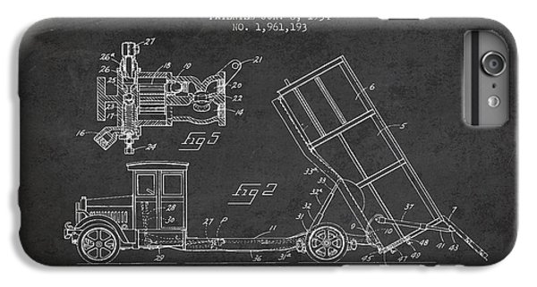 Dump Truck Patent Drawing From 1934 IPhone 7 Plus Case
