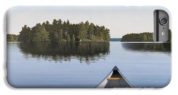 Lake iPhone 7 Plus Case - Early Evening Paddle Aka Paddle Muskoka by Kenneth M Kirsch