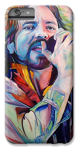 Seattle iPhone 7 Plus Case - Eddie Vedder In Pink And Blue by Joshua Morton