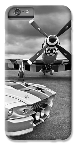 Eleanor Mustang With P51 Black And White IPhone 7 Plus Case by Gill Billington