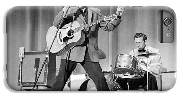 Elvis Presley And D.j. Fontana Performing In 1956 IPhone 7 Plus Case by The Harrington Collection