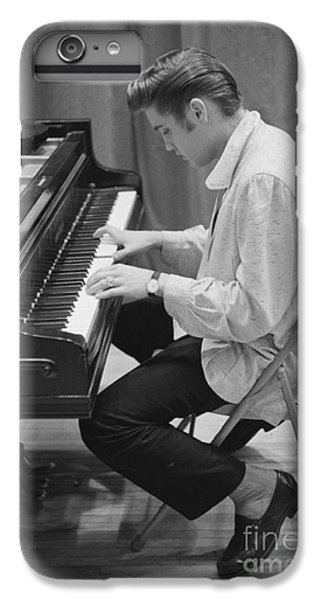 Elvis Presley iPhone 7 Plus Case - Elvis Presley On Piano While Waiting For A Show To Start 1956 by The Harrington Collection