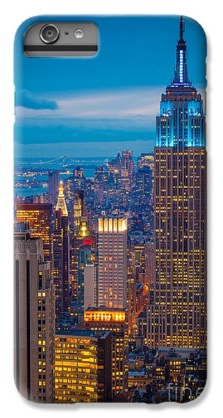Empire State Blue Night IPhone 7 Plus Case by Inge Johnsson