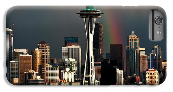 Seattle Skyline iPhone 7 Plus Case - End Of The Rainbow by Benjamin Yeager