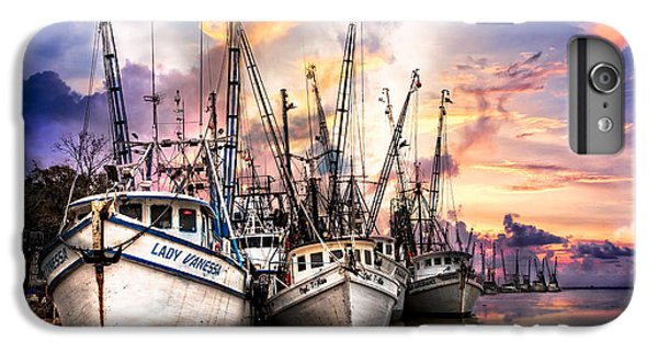Shrimp Boats iPhone 7 Plus Case - Evening Colors by Debra and Dave Vanderlaan