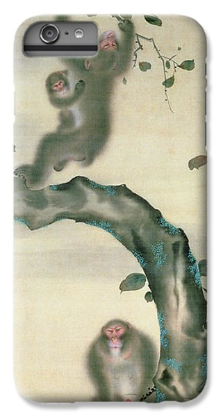 Family Of Monkeys In A Tree IPhone 7 Plus Case by Japanese School