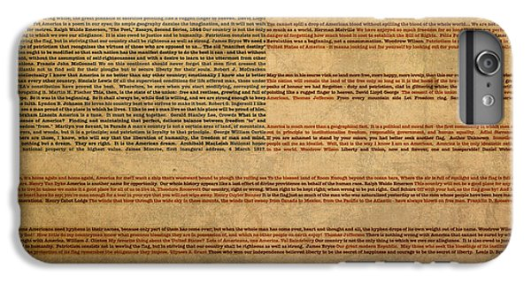 Famous Patriotic Quotes American Flag Word Art IPhone 7 Plus Case