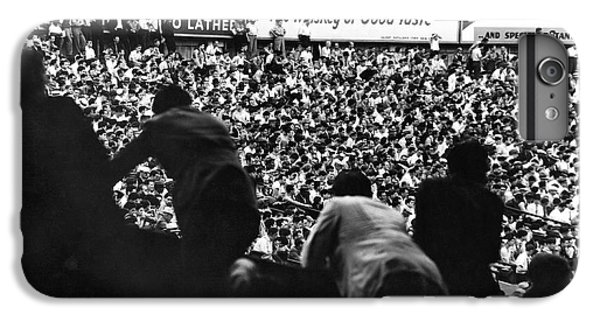 Fans In The Bleachers During A Baseball Game At Yankee Stadium IPhone 7 Plus Case by Underwood Archives