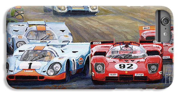 Car iPhone 7 Plus Case - Ferrari Vs Porsche 1970 Watkins Glen 6 Hours by Yuriy Shevchuk