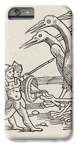 Fight Between Pygmies And Cranes. A Story From Greek Mythology IPhone 7 Plus Case