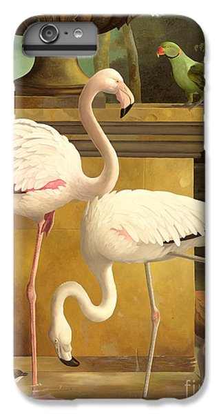 Parakeet iPhone 7 Plus Case - Flamingos by Lizzie Riches