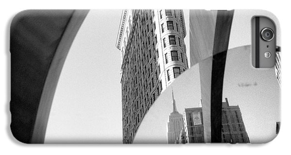 IPhone 7 Plus Case featuring the photograph Flat Iron Building Empire State Mirror by Dave Beckerman