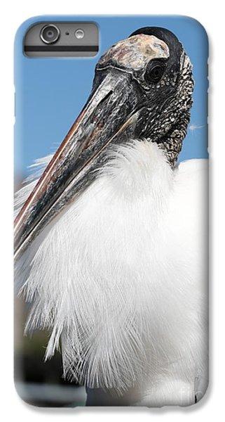 Fluffy Wood Stork IPhone 7 Plus Case by Carol Groenen