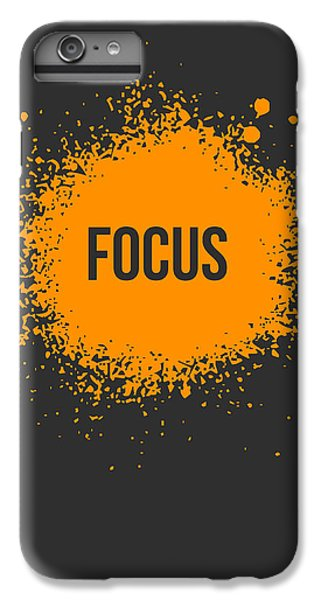 Orange iPhone 7 Plus Case - Focus Splatter Poster 3 by Naxart Studio
