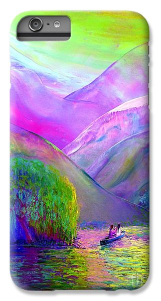Figurative iPhone 7 Plus Case -  Love Is Following The Flow Together by Jane Small