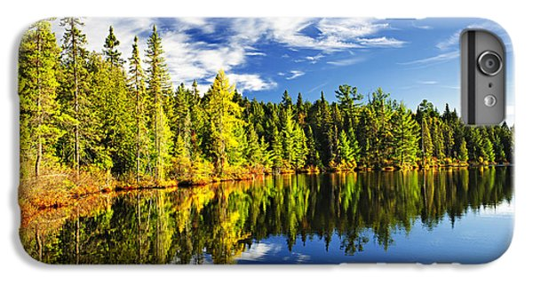 Landscapes iPhone 7 Plus Case - Forest Reflecting In Lake by Elena Elisseeva