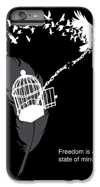 Crow iPhone 7 Plus Case - Freedom Is A State Of Mind by Sassan Filsoof
