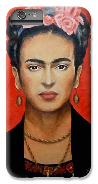 Red iPhone 7 Plus Case - Frida Kahlo by Yelena Day