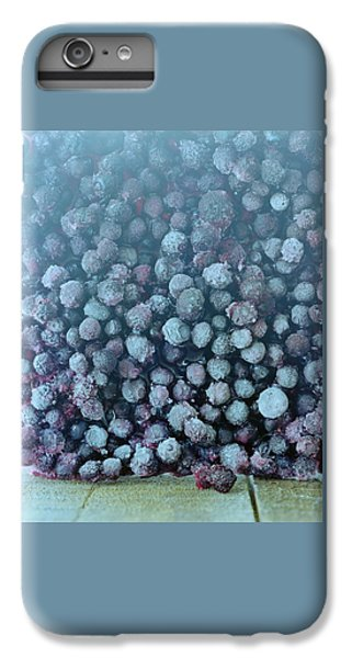 Blueberry iPhone 7 Plus Case - Frozen Blueberries by Romulo Yanes