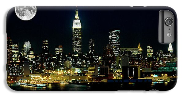 Full Moon Rising - New York City IPhone 7 Plus Case by Anthony Sacco