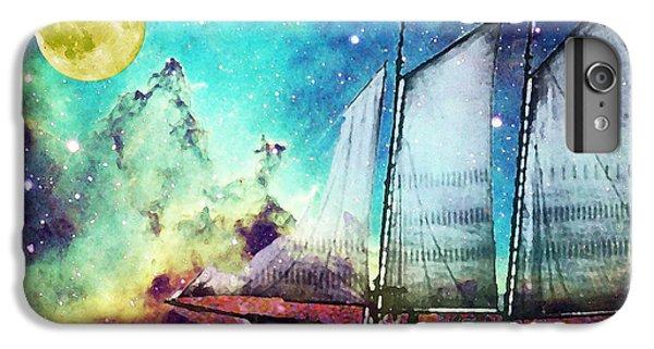 Boats iPhone 7 Plus Case - Galileo's Dream - Schooner Art By Sharon Cummings by Sharon Cummings