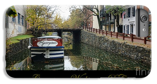 Washington D.c iPhone 7 Plus Case - Georgetown Canal Poster by Olivier Le Queinec