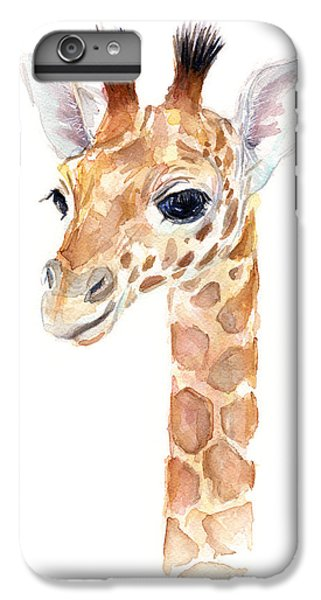 Giraffe Watercolor IPhone 7 Plus Case by Olga Shvartsur