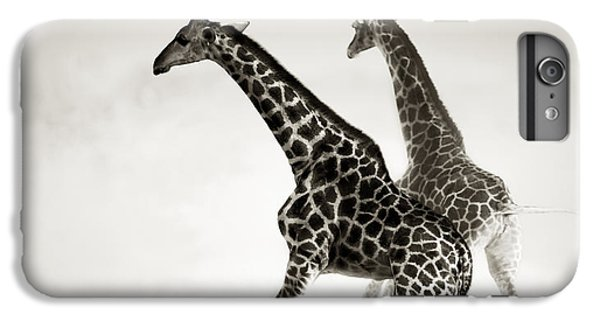 Giraffes Fleeing IPhone 7 Plus Case by Johan Swanepoel