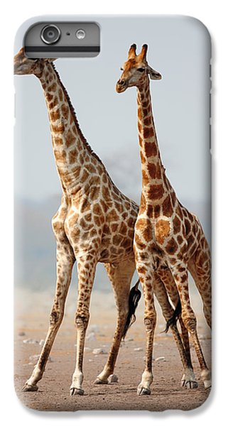 Giraffes Standing Together IPhone 7 Plus Case by Johan Swanepoel