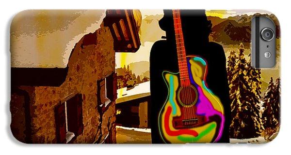 Girl Guitar Mountain Top IPhone 7 Plus Case