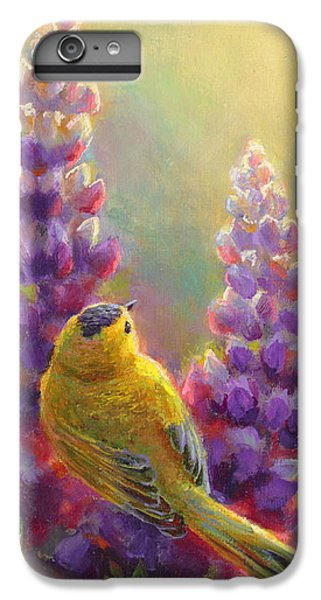 Golden Light 1 Wilsons Warbler And Lupine IPhone 7 Plus Case
