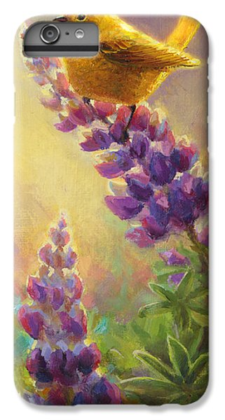 Golden Light 2 Wilsons Warbler And Lupine IPhone 7 Plus Case