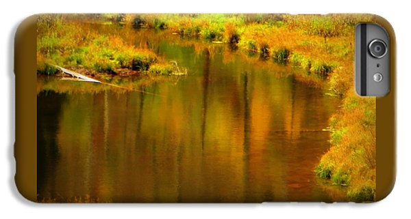 IPhone 7 Plus Case featuring the photograph Golden Reflections by Karen Shackles