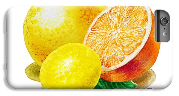 IPhone 7 Plus Case featuring the painting Grapefruit Lemon Orange by Irina Sztukowski