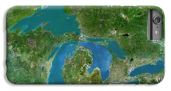Lake Superior iPhone 7 Plus Case - Great Lakes by Planetobserver/science Photo Library