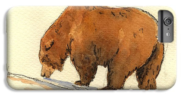 Grizzly Bear iPhone 7 Plus Case - Grizzly Bear  by Juan  Bosco