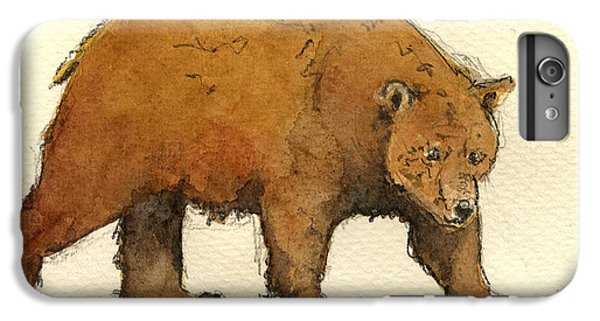 Grizzly Bear iPhone 7 Plus Case - Grizzly Brown Big Bear by Juan  Bosco
