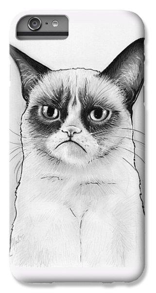 Grumpy Cat Portrait IPhone 7 Plus Case by Olga Shvartsur