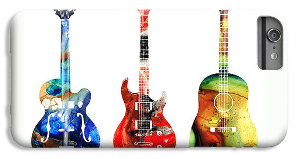 Bass iPhone 7 Plus Case - Guitar Threesome - Colorful Guitars By Sharon Cummings by Sharon Cummings