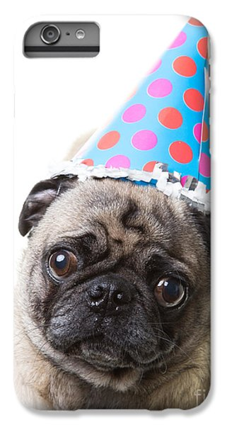 Pug iPhone 7 Plus Case - Happy Birthday Pug Card by Edward Fielding