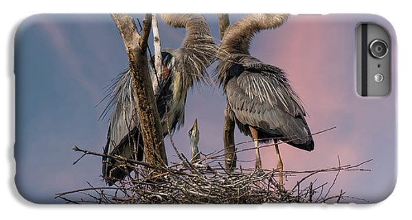Heron iPhone 7 Plus Case - Happy Family Trio by Kevin Wang