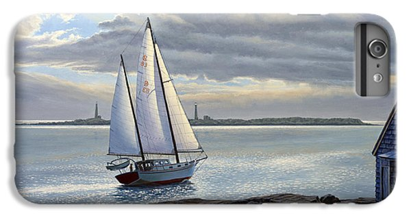 Sailboat iPhone 7 Plus Case - Heading Out-close Hauled     by Paul Krapf